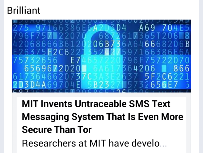 Invented : Untraceable SMS System > > MIT