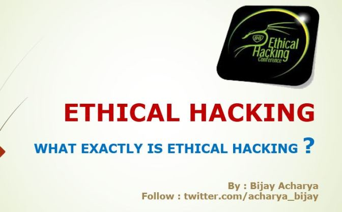 (PPT Slide 1) Ethical Hacking Overview – By Bijay Acharya