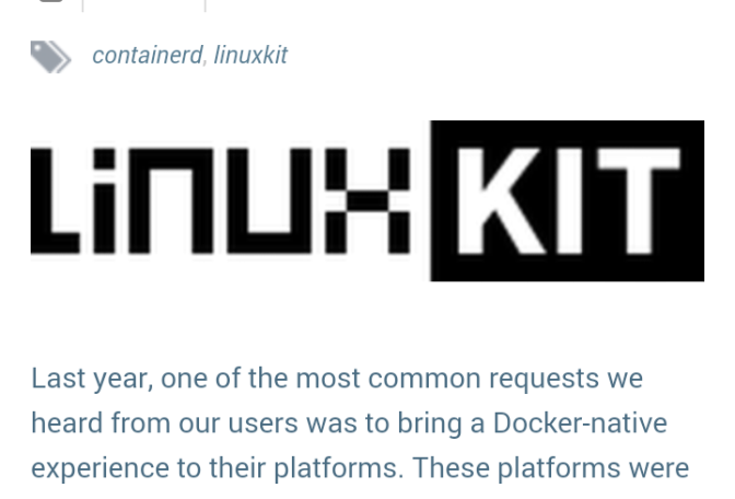 LinuxKit: A Toolkit for Building Secure, Lean and Portable Linux Subsystems