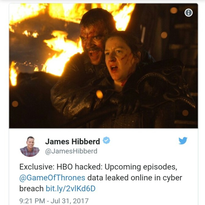 HBO gets hacked, upcoming 'Game of Thrones' episodes leaked